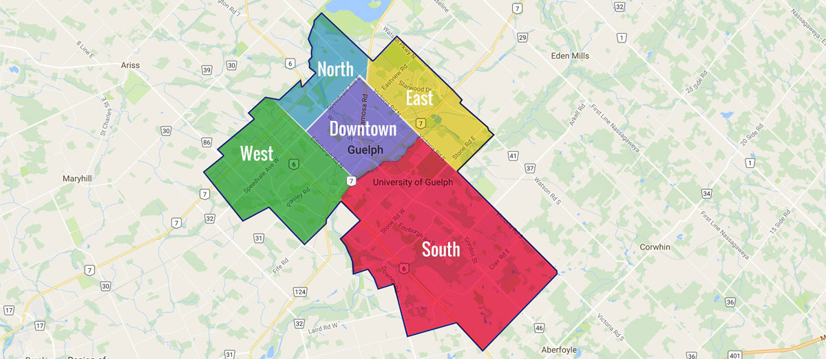 Guelph Real Estate Regions